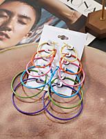cheap -Women's Earrings Earrings Set Fancy Stylish Simple Colorful European Boho Earrings Jewelry Rainbow color For Party Evening Street Date Birthday Festival