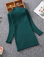 cheap -autumn winter girls knitted dress children clothes slim princess girls sweater dress 2-13y girls pullover sweater knitted cotton 569 k2