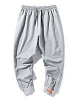 cheap -Men's Sweatpants Running Pants Hiking Pants Trousers Drawstring Winter Outdoor Windproof Soft Stretchy Comfortable Elastane Elastic Waist Bottoms Grey Black Winter Sports S M L XL XXL