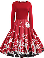 cheap -Pumpkin Audrey Hepburn Dress Swing Dress Adults' Women's Vintage Festival Christmas Halloween Festival / Holiday Terylene Purple / Green / Black Women's Easy Carnival Costumes Pumpkin / Belt / Belt