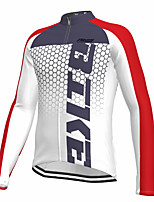 cheap -21Grams Men's Long Sleeve Cycling Jersey Spandex White Gradient Bike Top Mountain Bike MTB Road Bike Cycling Quick Dry Moisture Wicking Sports Clothing Apparel / Athleisure