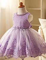 cheap -Kids Little Girls' Dress Solid Color Paisley Party / Evening Blue-vest Purple-Vest Pink-Vest Sleeveless Formal Dresses All Seasons 2-9 Years
