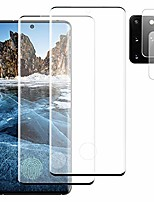 """cheap -[2+2] tempered glass screen protector for samsung galaxy s20 5g + camera lens protector [9h hardness] [anti scratch] [fingerprint support] [touch sensitive] hd clear & easy installation (6.2"""")"""