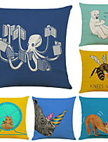 cheap -Art Colorful Double Side Cushion Cover 6PC Soft Decorative Square Throw Pillow Cover Cushion Case Pillowcase for Bedroom Livingroom Superior Quality Machine Washable Outdoor Indoor Cushion for Sofa Couch Bed Chair