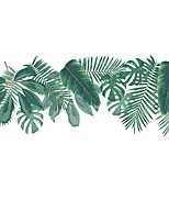 cheap -plants wall decals palm leaves wall stickers for living room, hanging leaf wall art murals vinyl peel and stick tropical wall decor posters for bedroom dining room office