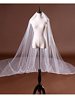 cheap -One-tier Cute / Sweet Wedding Veil Chapel Veils / Cathedral Veils with Scattered Crystals Style / Sequin / Solid Tulle