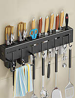 cheap -Stainless Steel Knife Holder Rack Punch-Free Kitchen Chopsticks Cage Pot Spoon Fork Scoop Storage Wall-Mounted