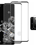 cheap -galaxy s20 plus screen protector with camera lens protector, [2 pack] tempered glass film protector for samsung galaxy s20 plus 5g/s20+ [3d full edge covered] [support fingerprint unlock] [hd clear]