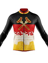 cheap -21Grams Men's Long Sleeve Cycling Jersey Spandex Polyester Black Funny Hot Dog Bike Top Mountain Bike MTB Road Bike Cycling Quick Dry Moisture Wicking Breathable Sports Clothing Apparel / Athleisure