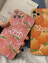 cheap -Phone Case For Apple Back Cover iPhone 12 Pro Max 11 SE 2020 X XR XS Max 8 7 Waterproof Shockproof Food Word / Phrase TPU