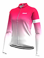 cheap -21Grams Women's Long Sleeve Cycling Jersey Spandex Red Gradient Bike Top Mountain Bike MTB Road Bike Cycling Quick Dry Moisture Wicking Sports Clothing Apparel / Stretchy / Athleisure