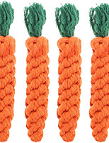 cheap -4 Pieces Pet Dog Puppy Cat Toy Chew Knot Cotton Knot CarrotPet Teeth Cleaning Chewing ToyCotton Rope Chewer for Pet