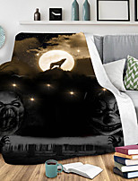 cheap -3D Print Blanket Nap Cover Blanket Thick Air Conditioning Blanket Lazy Man Blanket Halloween Collection