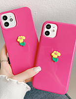 cheap -Phone Case For Apple Back Cover iPhone 12 Pro Max 11 SE 2020 X XR XS Max 8 7 Shockproof Dustproof Solid Colored Flower Silicone