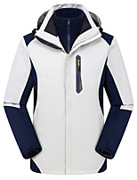 cheap -Men's Hiking 3-in-1 Jackets Ski Jacket Hiking Fleece Jacket Polar Fleece Winter Outdoor Thermal Warm Windproof Quick Dry Lightweight Hoodie Windbreaker Trench Coat Skiing Ski / Snowboard Fishing
