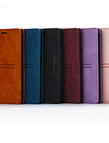 cheap -Phone Case For LG Full Body Case LG Stylo 5 Wallet Card Holder Shockproof Solid Colored PU Leather