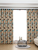 cheap -Window Curtain Window Treatments Beige 1 Panels Room Darkening Grommet Rod Pocket Plain Solid For Living Room Bed Room