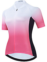 cheap -21Grams Women's Short Sleeve Cycling Jersey Summer Spandex Pink Gradient Bike Top Mountain Bike MTB Road Bike Cycling Quick Dry Moisture Wicking Sports Clothing Apparel / Stretchy / Athleisure