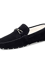 cheap -Men's Loafers & Slip-Ons Comfort Loafers Crib Shoes Drive Shoes Casual Daily Suede Warm Non-slipping Wear Proof Khaki Green Black Fall Winter
