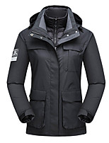 cheap -Women's Hiking Down Jacket Hiking 3-in-1 Jackets Ski Jacket Winter Outdoor Thermal Warm Windproof Lightweight Breathable Outerwear Windbreaker Trench Coat Skiing Fishing Climbing Female black Female