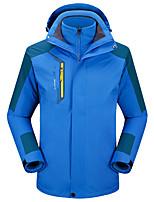 cheap -Men's Hiking 3-in-1 Jackets Ski Jacket Hiking Fleece Jacket Winter Outdoor Thermal Warm Waterproof Windproof Fleece Lining Outerwear Windbreaker Trench Coat Skiing Fishing Climbing Men's color blue
