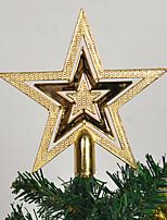 cheap -Christmas Tree Top Star Five-star Christmas Ornament Tree Top Star Golden Top Star 20cm Christmas Tree Pendant Ornaments