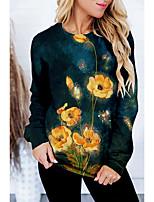 cheap -Women's Sweatshirt Pullover Floral Graphic Prints Print Daily Sports 3D Print Active Streetwear Hoodies Sweatshirts  Yellow