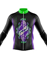 cheap -21Grams Men's Long Sleeve Cycling Jersey Spandex Polyester Black Funny Poker Bike Top Mountain Bike MTB Road Bike Cycling Quick Dry Moisture Wicking Breathable Sports Clothing Apparel / Athleisure