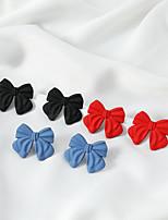 cheap -Women's Earrings Geometrical Fashion Stylish Simple Earrings Jewelry Blue / Black / Red For Street 1 Pair
