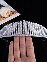 cheap -Hair Jewelry High-end Bridal Headdress Micro-inlaid Zircon Crown Wedding Accessories Girlfriends Wedding Gifts
