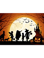 cheap -Halloween Wall Art Canvas Prints Painting Artwork Picture Ghost and Castle Landscape Home Decoration Dcor Rolled Canvas No Frame Unframed Unstretched