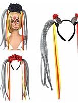 cheap -Halloween Exaggerated Party Dress Up headgear Skull Headband Headband Black And Red Rose Flower Headband