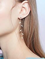 cheap -Women's Drop Earrings Earrings Classic Wedding Stylish Classic Modern Sweet Imitation Diamond Earrings Jewelry Silver For Formal Date Beach Promise Festival 1 Pair
