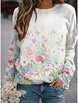 cheap -Women's Sweatshirt Pullover Floral Graphic Print Sports Holiday 3D Print Active Streetwear Hoodies Sweatshirts  Blue Blushing Pink Green
