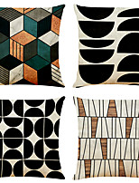 cheap -Geometric Double Side Cushion Cover 4PC Soft Decorative Square Throw Pillow Cover Cushion Case Pillowcase for Bedroom Livingroom Superior Quality Machine Washable Indoor Cushion for Sofa Couch Bed Chair