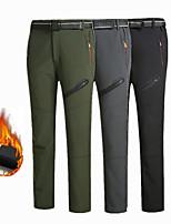 cheap -Men's Fleece Lined Pants Hiking Pants Trousers Softshell Pants Winter Outdoor Thermal Warm Waterproof Portable Windproof Pants / Trousers Army Green Grey Black Hunting Fishing Climbing L XL XXL XXXL