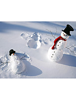 cheap -Christmas Wall Art Poster Prints Painting Artwork Picture HD Self Adhere Gift Modern Figure Portrait SnowmanWaterproof Home Decoration Decor Rolled Poster No Frame Unframed Unstretched