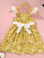 cheap -[12m-5y]sweet flower print yellow short dress