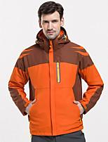 cheap -Men's Hiking 3-in-1 Jackets Ski Jacket Hiking Fleece Jacket Polar Fleece Winter Outdoor Thermal Warm Windproof Quick Dry Lightweight Outerwear Winter Jacket Trench Coat Skiing Ski / Snowboard Fishing