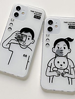 cheap -Phone Case For Apple Back Cover iPhone 12 Pro Max 11 SE 2020 X XR XS Max iphone 7Plus / 8Plus Shockproof Dustproof Graphic TPU