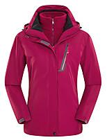 cheap -Women's Hiking 3-in-1 Jackets Ski Jacket Hiking Fleece Jacket Winter Outdoor Thermal Warm Waterproof Windproof Quick Dry Outerwear Winter Jacket Trench Coat Skiing Ski / Snowboard Fishing Female-Rose