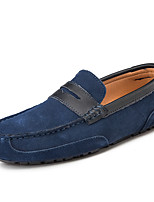 cheap -Men's Loafers & Slip-Ons Comfort Loafers Crib Shoes Drive Shoes Casual Daily Suede Breathable Non-slipping Wear Proof Orange Black Brown Color Block Fall Spring