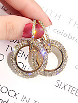 cheap -Women's Girls' Earrings Crystal Earrings Round Cut Princess Stylish Earrings Jewelry Rose Gold / Silver / Gold For Party Evening Prom Date Festival 1 Pair