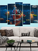 cheap -Christmas Wall Art Canvas Prints Painting Artwork Picture Home Decoration Decor Rolled Canvas No Frame Unframed Unstretched