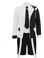 cheap -Cookie Anime Cosplay Costume Adults' Men's Halloween Halloween Halloween Festival / Holiday Terylene Black Men's Easy Carnival Costumes Solid Color / Coat / Shirt / Socks / Shorts / Tie