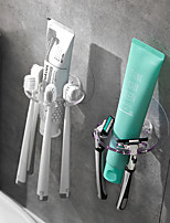 cheap -2 Toothbrush Racks No Perforation Self-adhesive Wash With Porous Wall-mounted Accessories Small Racks With Random Colors