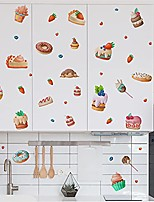 cheap -colorful cute cartoon dessert bread food wall stickers for kids kitchen removable wall decals diy decorations for nursery baby boys girls bedroom playroom living room