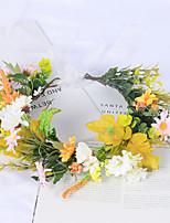 cheap -Korean Style Wreath Scenic Birthday Wedding Girlfriends Bridesmaid Hair Band Small Daisy Flower Wreath Headdress