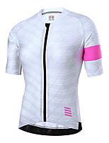 cheap -21Grams Women's Short Sleeve Cycling Jersey Summer Spandex Green White Bike Top Mountain Bike MTB Road Bike Cycling Quick Dry Moisture Wicking Sports Clothing Apparel / Stretchy / Athleisure