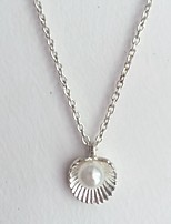 cheap -Necklace Women's Classic White Shell Classic Lovely Silver 50 cm Necklace Jewelry 1pc for Daily